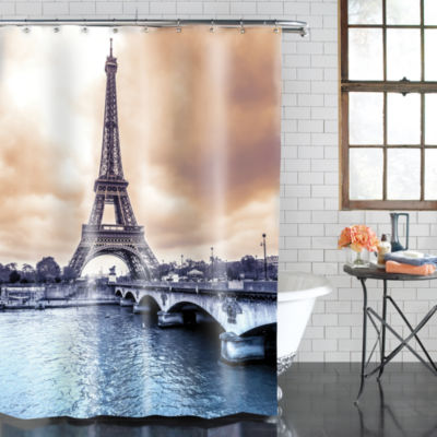 Excell Home Fashions Eiffel Tower Shower Curtain