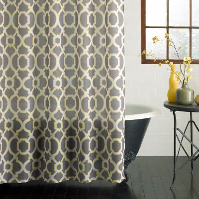 Excell Home Fashions Geo Lattice Shower Curtain