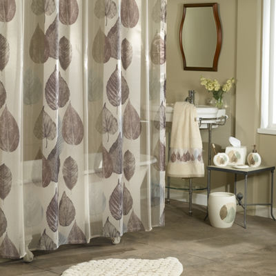 Excell Home Fashions Gossamer Leaf Shower Curtain