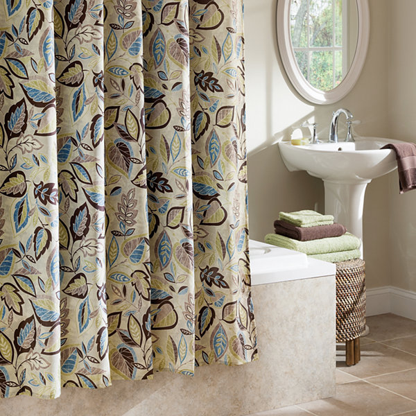 Excell Home Fashions Jacobean Leaf Shower Curtain