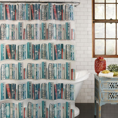 Bibliophile Peva Shower Curtain Shower Curtain