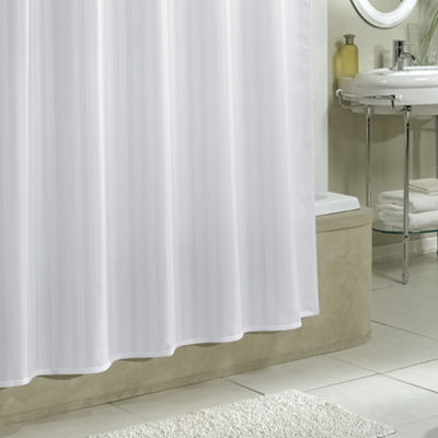 Damask Stripe Fabric Shower Curtain Liner Woven Shower Curtain Liner