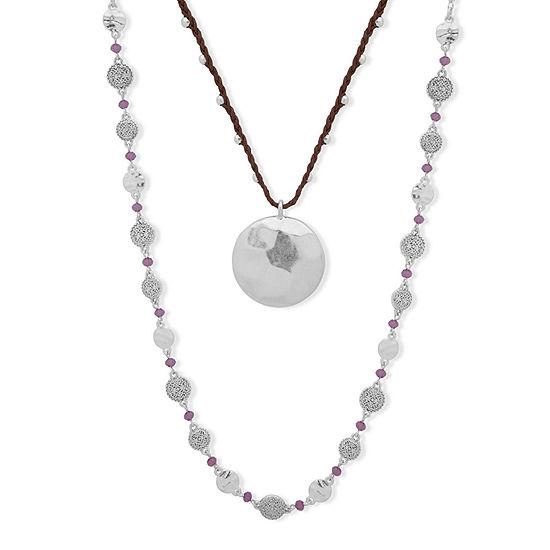 Chaps 2-pc. 28 Inch Necklace Set