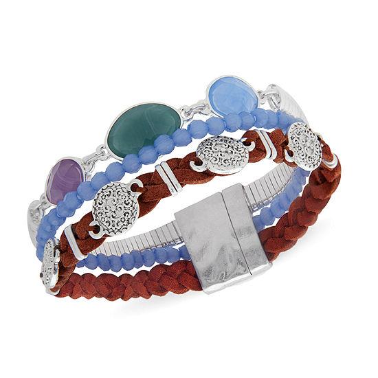 Chaps 7.5 Inch Beaded Bracelet