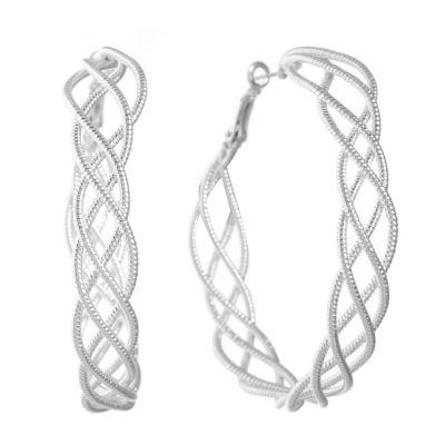 Gloria Vanderbilt 55.7mm Hoop Earrings
