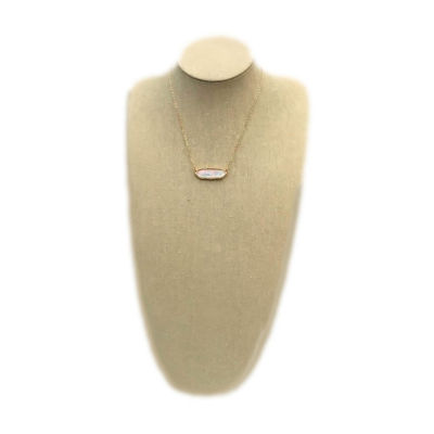 Arizona Womens Mother Of Pearl Pendant Necklace