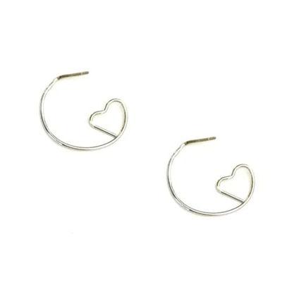 Arizona 1 Inch Heart Hoop Earrings