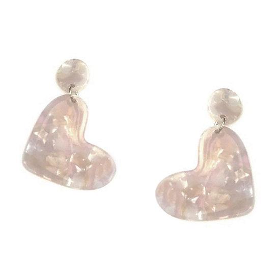 Arizona 1 Pair Heart Drop Earrings