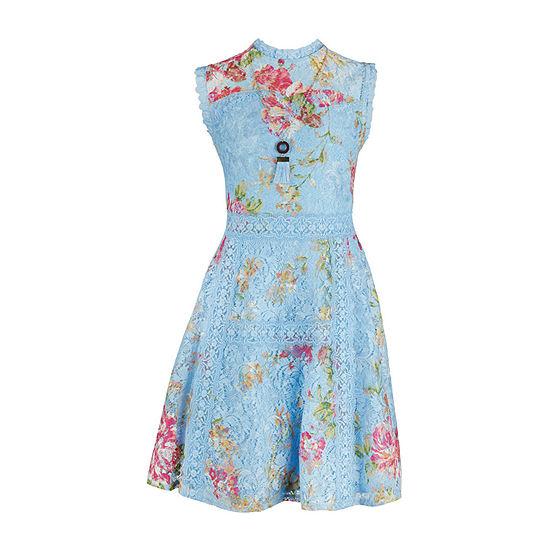 Knit Works Girls Sleeveless Fit & Flare Dress