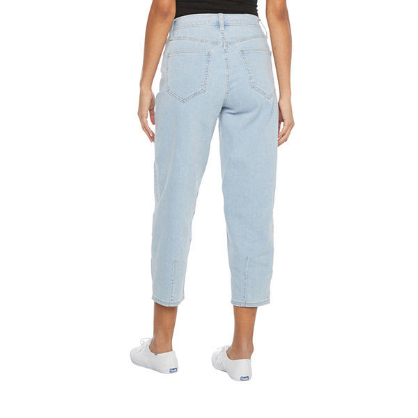 Arizona Womens High Rise Tapered Relaxed Fit Jean - Juniors