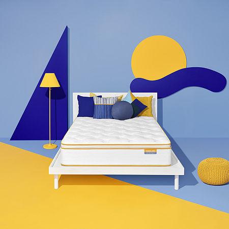 Simmons Sleep Thrillzzz Plush Pillowtop - Mattress Only, Twin, White