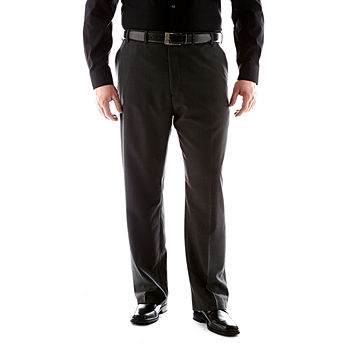 Black Van Heusen Mens Straight-Fit Flat-Front Suit Separates Pants