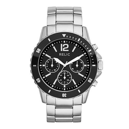 Relic® Mens Silver-Tone Sport Watch ZR15771