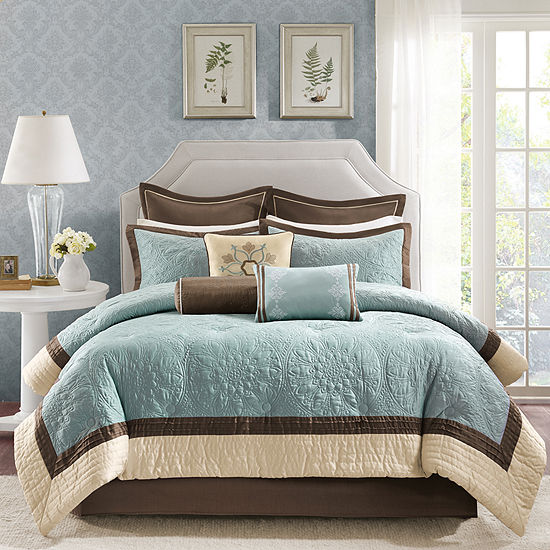 Madison Park Melanie Embroidered 9-pc. Comforter Set