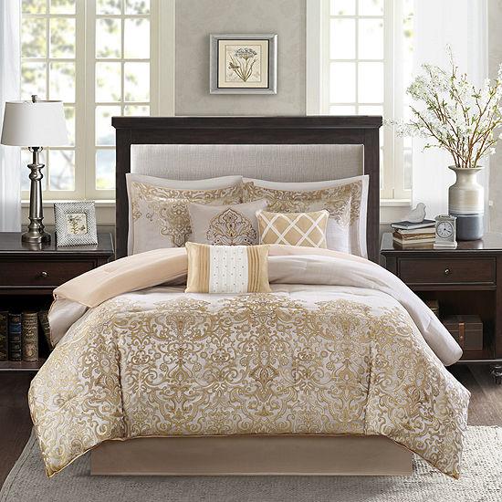 Madison Park Shauna 7-pc. Jacquard Comforter Set