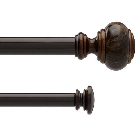 Liz Claiborne® Marble Knob Double Adjustable Curtain Rod