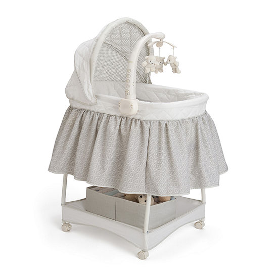 Delta Children S Products Deluxe Gliding Bassinet