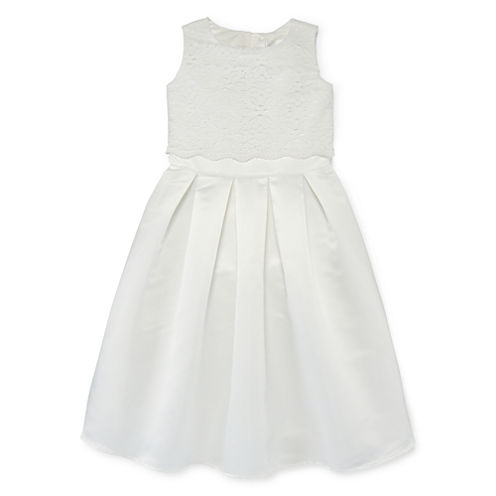 Lavender by Us Lace and Satin Flower Girl Dress - Preschool Girls 4-6x
