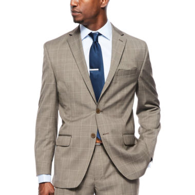 Collection by Michael Strahan Brown Tic Plaid Suit Jacket - Classic Fit