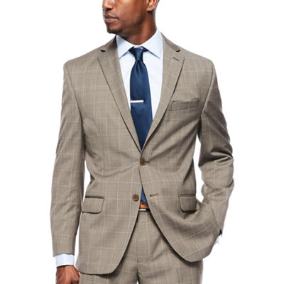 Collection by Michael Strahan Brown Tic Plaid Suit Separates -  Classic-Fit