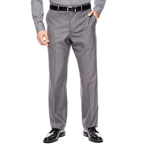 Men's JF J. Ferrar® Gray Sharkskin Flat Front Classic-Fit Suit Pants