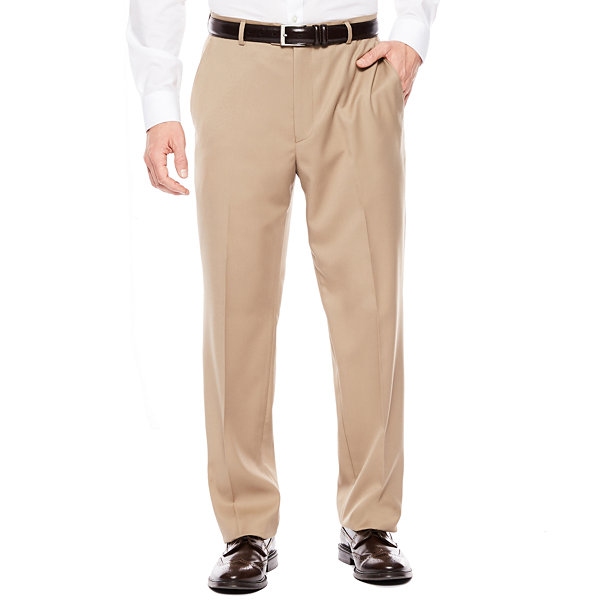 Stafford Travel Super Flat-Front Classic Fit Dress Pants