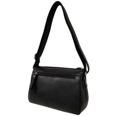 east 5th Leather Triple  Zip Shoulder Shoulder Bag