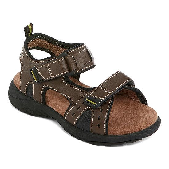 Okie Dokie Lil Lewellyn Boys Strap Sandals - Toddler