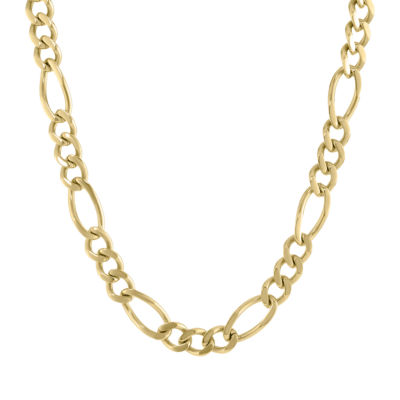 Stainless Steel Solid Figaro 24 Inch Chain Necklace