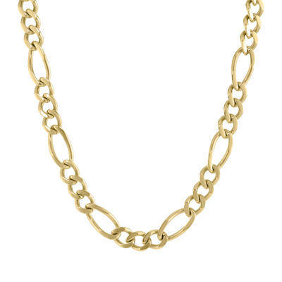 Stainless Steel 30 Inch Solid Figaro Chain Necklace