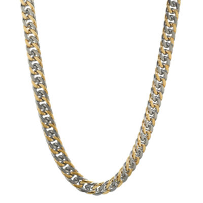 Stainless Steel Solid Curb 30 Inch Chain Necklace