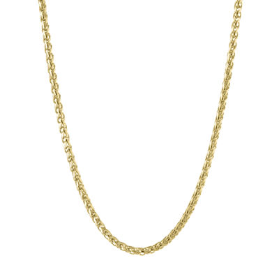 Stainless Steel 30 Inch Solid Wheat Chain Necklace