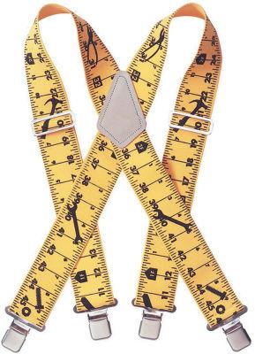 "CLC Work Gear 110RUL 2"" Ruler Heavy Duty Elastic Suspenders"""