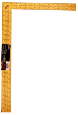 Mayes 10219 24IN Yellow Steel Rafter Square