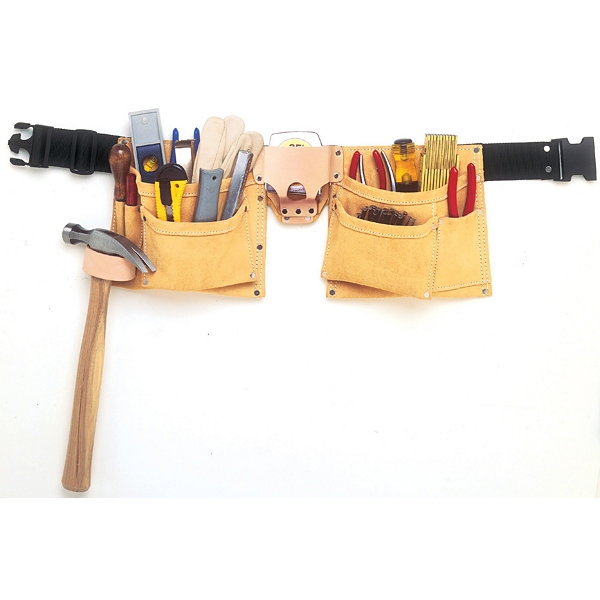 CLC Work Gear I370X3 8 Pocket Suede Heavy Duty Work Belt Apron