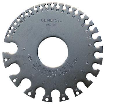 General 21 Round Sheet Metal Gauge
