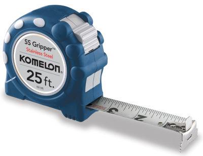 "Komelon Usa Ss125 1"" X 25' Ss Gripperª StainlessSteel W/Rubber Grip Tape Rule"""