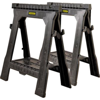 Stanley Storage 060864R 31.5IN Folding Sawhorse 2Count