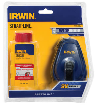 Irwin 1932885 100' Abs Strait-Line¨ Speedline Reel And Red Chalk Combo