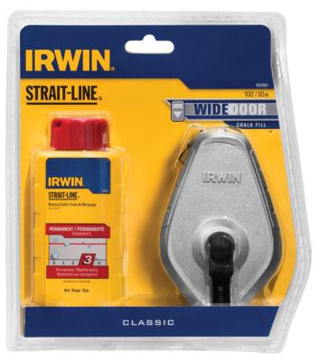 Irwin 1932881 100' Aluminum Strait-Line Reel AndRed Chalk Combo