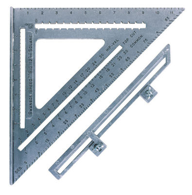 "Swanson S0107 12"" The Big 12¨ Speed Square With Layout Bar"""
