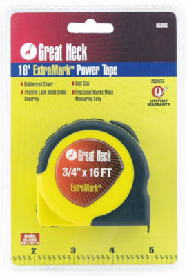 Great Neck 95006 3/4IN X 16' Extra Mark Power Tape