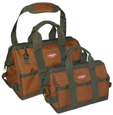 Pullr 60028 12IN & 16IN Green & Brown Gatemouth Tool Bag Combo