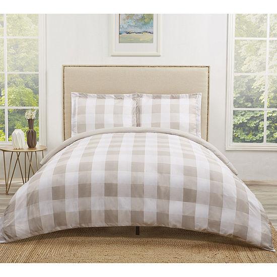 Truly Soft Everyday Buffalo Check Comforter Set Lightweight Hypoallergenic Reversible Comforter Set