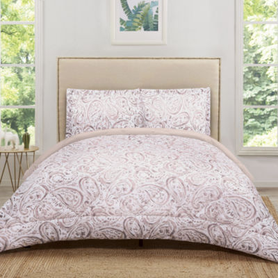 Truly Soft Everyday Watercolor Paisley Comforter Set
