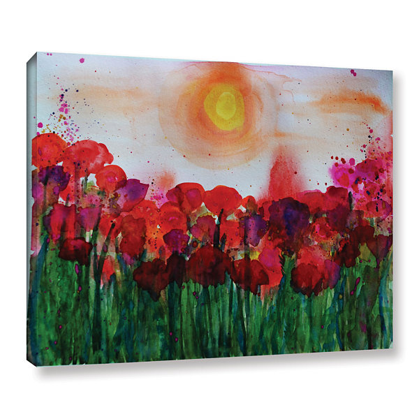 Brushstone Poppies 2 Gallery Wrapped Canvas Wall Art