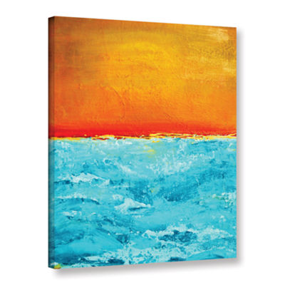 Brushstone Sunset 3 Gallery Wrapped Canvas Wall Art