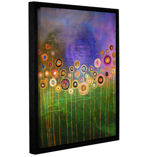 Brushstone Poppies 3 Gallery Wrapped Floater-Framed Canvas Wall Art