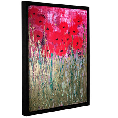 Brushstone Poppies Gallery Wrapped Floater-FramedCanvas Wall Art