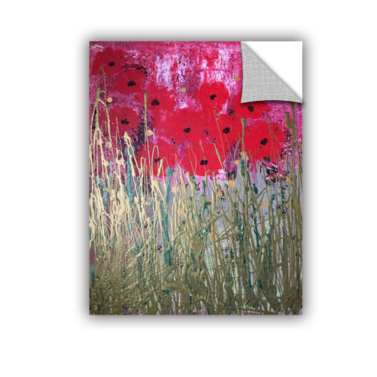 Brushstone Poppies Removable Wall Decal